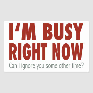 I'm Busy Right Now... Rectangular Sticker