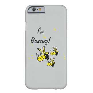 I'm Buzzing! bees on a blue background Barely There iPhone 6 Case