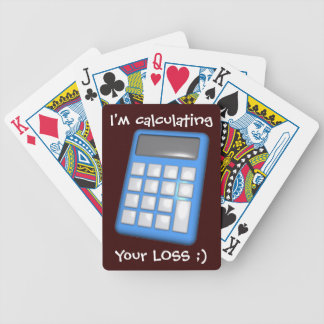 """"""" I'm calculating your Loss"""" Playing Cards"""