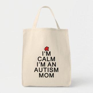 I'm Calm I'm an Autism Mom Tote Bag