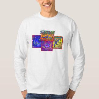 IM camiseta larga de la manga de la coincidencia Poleras