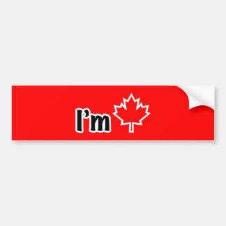 I'm Canadian Bumper Sticker Car Bumper Sticker
