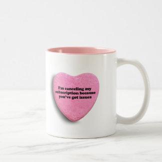 I'm canceling my subscription coffee mug