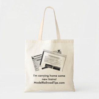 I'm carrying home some new trains!... canvas bags