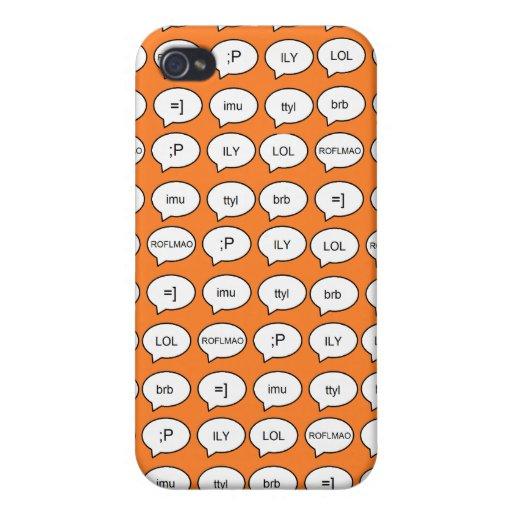 IM caso del iPhone 4 de la mazarota en naranja iPhone 4 Fundas