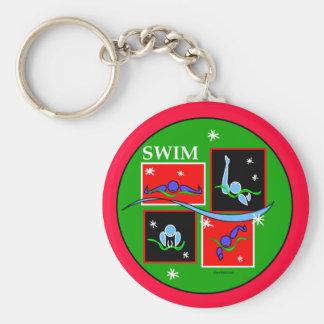 IM Christmas Morning Basic Round Button Keychain