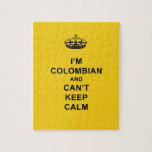 I'm Colombian and Can't Keep Calm Jigsaw Puzzle