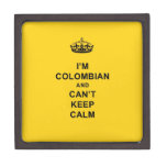 I'm Colombian and Can't Keep Calm Premium Jewelry Boxes