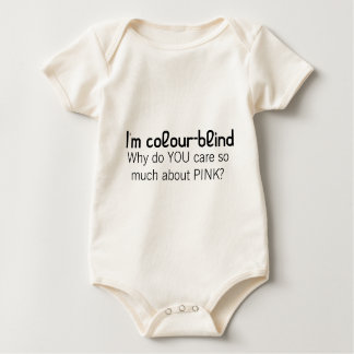 I'm colour-blind (pink) baby bodysuit