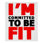 I'm committed to be Fit Print