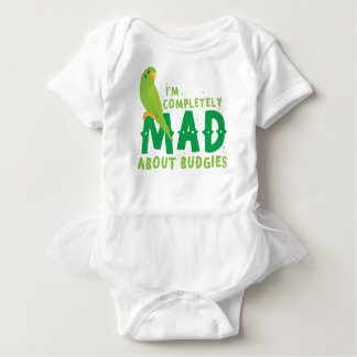I'm completely mad about budgies baby bodysuit