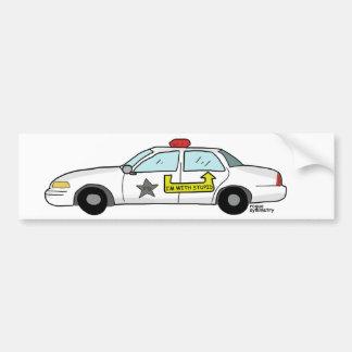 Im con el logotipo estúpido en el coche patrulla d pegatina para auto