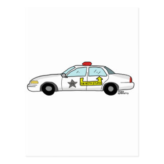 Im con el logotipo estúpido en el coche patrulla postal