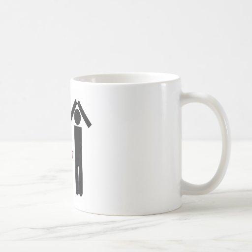 Im con un idiota total taza básica blanca