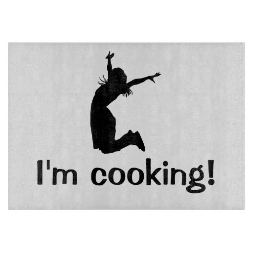 I'm Cooking Humorous Cutting Board Gift for Mom
