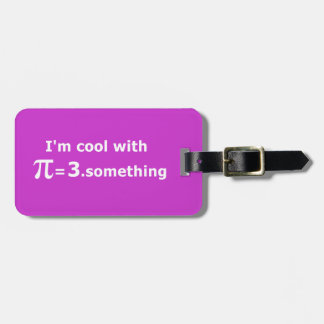 I'm Cool With Pi Is 3 Point Something Bag Tag