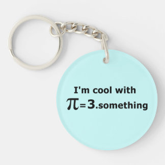 I'm Cool With Pi Is 3 Point Something Keychain