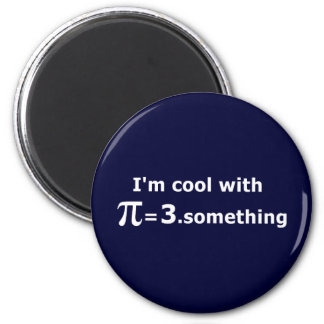 I'm Cool With Pi Is 3 Point Something Refrigerator Magnets