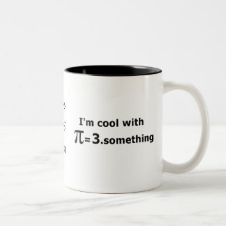 I'm Cool With Pi Is 3 Point Something Two-Tone Coffee Mug