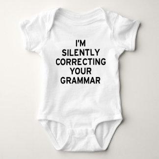 I'm Correcting Grammar Baby Bodysuit