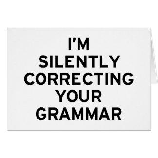 I'm Correcting Grammar Card