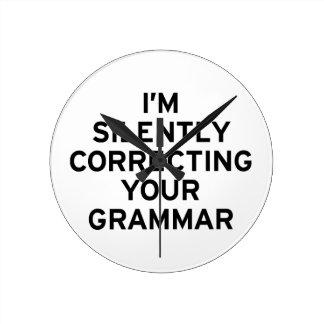 I'm Correcting Grammar Clock