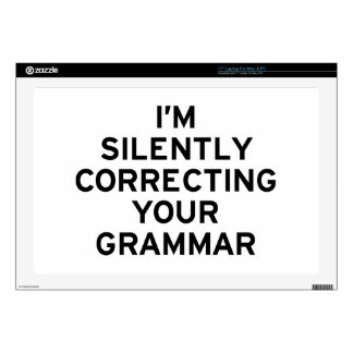 """I'm Correcting Grammar Decals For 17"""" Laptops"""
