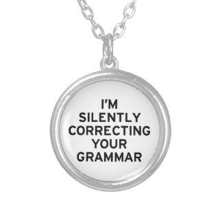 I'm Correcting Grammar Pendants