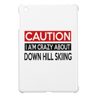 I'M CRAZY ABOUT DOWN HILL SKIING iPad MINI COVER