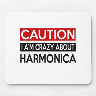 I'M CRAZY ABOUT HARMONICA MOUSE PAD