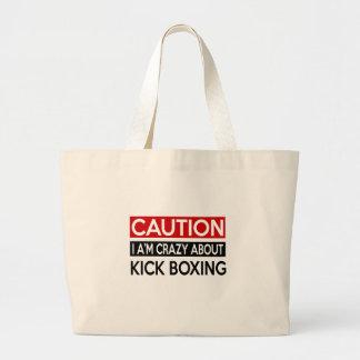 I'M CRAZY ABOUT KICK BOXING JUMBO TOTE BAG