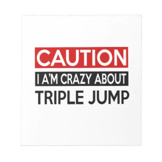 I'M CRAZY ABOUT TRIPLE JUMP MEMO NOTE PAD