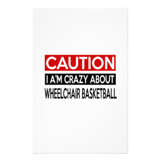 I'M CRAZY ABOUT WHEELCHAIR BASKETBALL STATIONERY