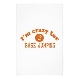 I'm crazy for base jumping. custom stationery