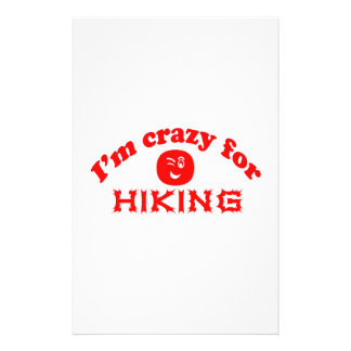 I'm crazy for Hiking. Stationery