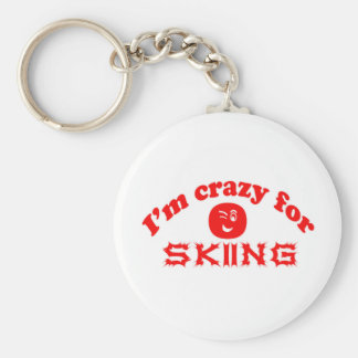 I'm crazy for Skiing. Keychains