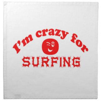 I'm crazy for Surfing. Napkin