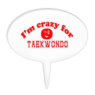 I'm crazy for Taekwondo. Cake Toppers