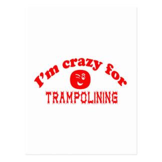 I'm crazy for Trampolining. Postcard