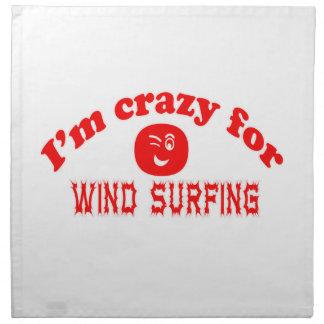 I'm crazy for Wind Surfing. Printed Napkins