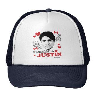 I'm crushin on Justin -.png Trucker Hat