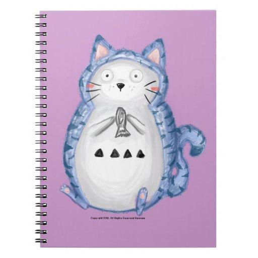 Im cuaderno mullido del gato