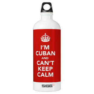 I'm Cuban and I can't Keep Calm Water Bottle