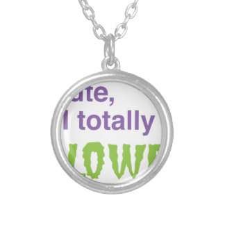 I'm cute and I totally love halloween Silver Plated Necklace