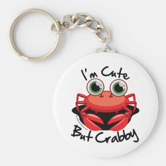 I'm Cute But Crabby Keychain