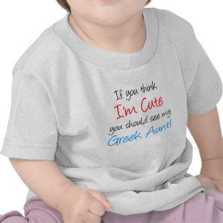 I'm Cute Greek Aunt Tshirt
