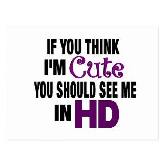 I'M Cute In Hd Postcards