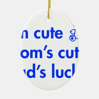 Im-cute-moms-cute-dads-lucky-fut-blue png adornos de navidad