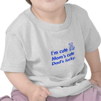 Im-cute-moms-cute-dads-lucky-fut-blue.png Tshirts