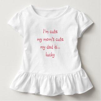 I'm Cute My Mom Toddler Baby Girls Ruffle Top Tee